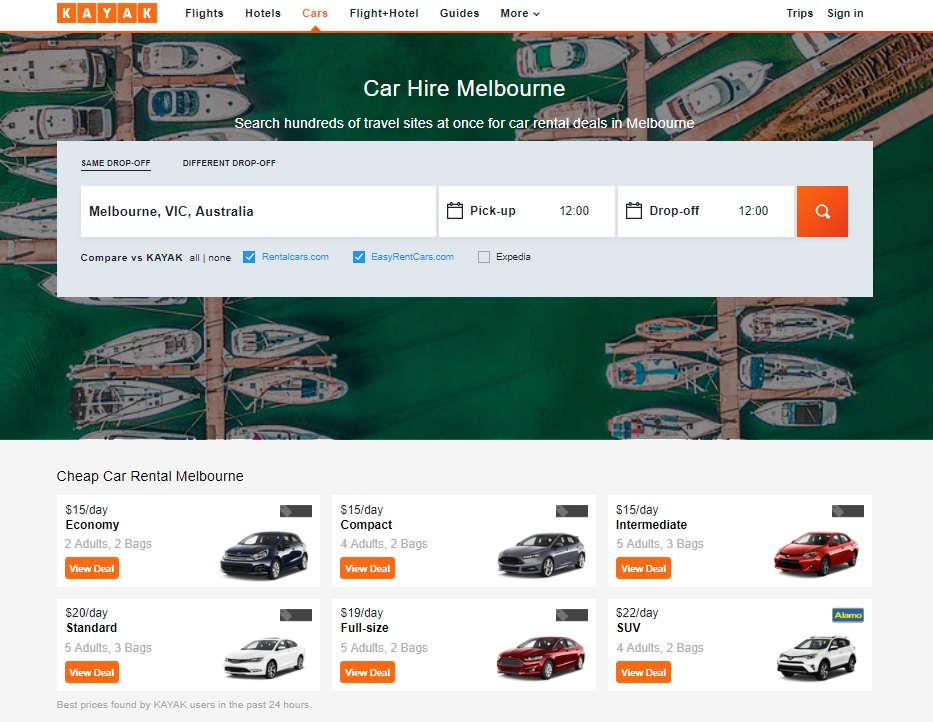 Car Rentals In Melbourne From 18 Day Search For Car Rentals On Kayak