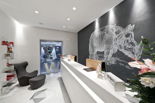 Hotel White - Rome - Front desk